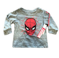 Spiderman Infant Boys Long Sleeve Shirt 12 Months Official Licensed  With Tags