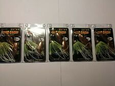War Eagle Copper 3/8 Oz Dbl Willow Spinnerbait White Chartreuse Lot Of Five