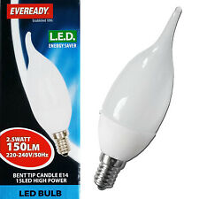 Eveready 2.5w SES E14 Small Screw LED Candle Energy Saving Light Bulb Flame Tip