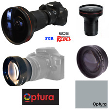 HD 240° FISHEYE LENS +2x ZOOM LENS FOR CANON EOS REBEL SL1 T6 T5 6D 60D 80D
