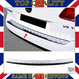Chrome Rear Bumper Scratch Protector S.STEEL For VW TOUAREG II from 2010 to 2017