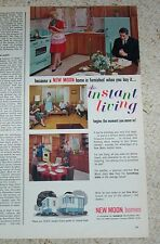 1965 ad - New Moon mobile home homes -Redman Industries Dallas Texas- vintage AD