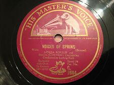 "MILIZA KORJUS ""Voices Of Spring"" (Strauss)/""Variations"" (Proch) 78rpm 12"" NM"