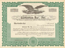 Clintonian Bar > New Jersey stock certificate scripophily share