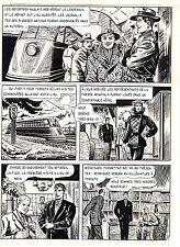 BOB LEGUAY PLANCHE ORIGINALE  REPORTAGE SUR LES SOUCOUPES VOLANTES PAGE 5
