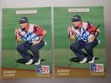 1991 PRO SET 2 ROBERT GAMEZ PGA GOLF CARDS AUTO IN PERSON NOT AUTHENTICATED