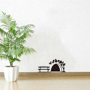 Mouse Hole Wall Sticker Door Cupboard Home Art Kids Room Decoration Accessories