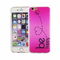 Téléphone Housse Pour Apple IPHONE 6/6s Be Happy Rose Sac Couvercle Motif Slim