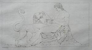 Architecture Choragic Monument of Lysicrates Dionysus Frieze Antique Print 1808