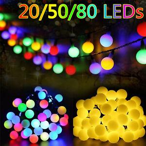 Solar/Battery LED Garden Fairy String Lights Wedding Party Outdoor/Indoor Decor