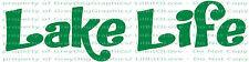 Lake Life Funky Words Vinyl Decal Sticker Fishing Fish Swimming Jet Ski Boating