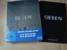 SEVEN Sieben SE7EN 7 Blu-ray SteelBook NEU&OVP +24 Seiten Booklet Brad Pitt