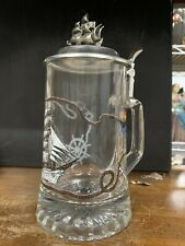 "Domex Vintage Glass Lidded Beer Stein ""Passat"" Sailing Ship"