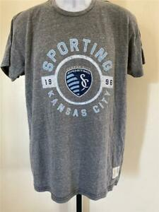 New Kansas City Sporting Mens Size L Large Gray Shirt