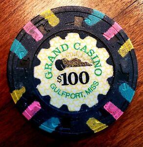 GRAND CASINO $100 Casino Chip Gulfport Mississippi RARE