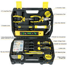 116-Piece Homeowner General Portable Repair Hand Tools Kit with Plastic Tool Box