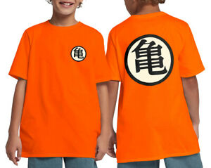 Kids Dragon Ball Z Shirt dragonball DBZ Son Goku Kanji Symbol Youth Tee XS-XL