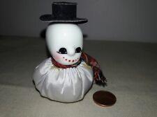 vintage sewing accessory pin cushion snowman ceramic head