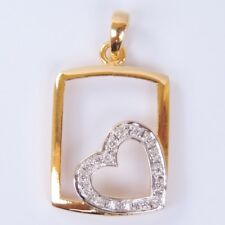925 silver plated gold + cubic zirconia gold ,white color pendant 100 new