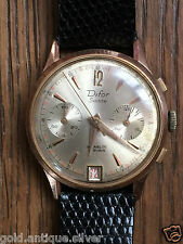 BELLE montre chronographe homme DIFOR  SUISSE PLAQUÉ OR WATCH BELLE ETAT
