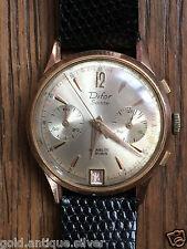 BELLE montre chronographe homme DIFOR  SUISSE PLAQUÉ OR WATCH BELLE ETAT