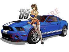 Pinup Girl 2009 Shelby Cobra Mustang GT500 Vinyl Sticker