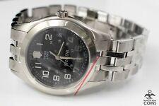 Victorinox Quartz SanMar Swiss Army Black Dial St. Steel Watch w/Box 241046