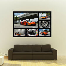 "Poster of McLaren MP4-12C on Strasse Wheels Giant Collage HD Huge 54""x36""Print"