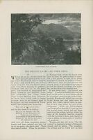1881 English Lakes & Their Genii Article Englad Britian History Landscapes