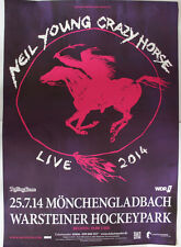 Original Neil Young Crazy Horse Konzertposter Live 2014 Mönchengladbach