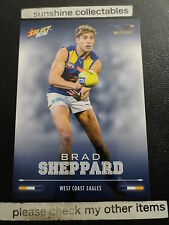 2016 AFL SELECT FOOTY STARS BASECARD NO.205 BRAD SHEPPARD WESTCOAST