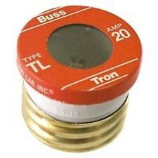NEW LOT OF (16) TL-20 BUSSMAN 20 AMP SCREW IN  BASE HOUSE PLUG FUSES 4181558