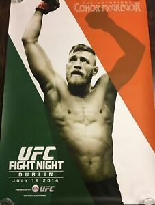 UFC Dublin 2014 Limited Edition Poster, Conor McGregor, Unsigned, 27x39, LAST 1!