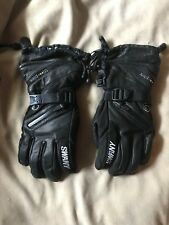 Mens SWANY Triplex Ski Gloves Black Leather Size Small GREAT CONDITION