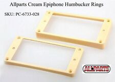 Epiphone Humbucking Tapered Pickup Rings, Curved Bottom - CREAM.  PC-6733-028