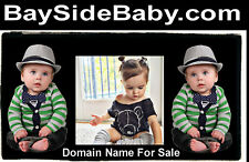 Bayside Baby .com Domain Name For Sale Kids Clothes Put Shop Cart On This URL