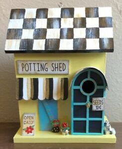 MY OWN HP Courtly 'Potting Shed Birdhouse' with MacKenzie-Childs Ribbon Bow