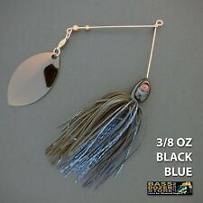 Bassdozer spinnerbaits LONG ARM OKLAHOMA 3/8 oz BLACK BLUE spinner bait lures