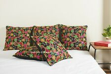 Home Decor Embroidery Paisley Design Cushion Cover 100% Silk Pillow Cover