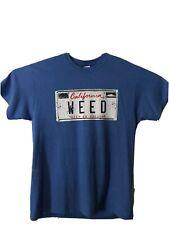 California Weed 420 high cannabis  T-shirt Sz L Vintage Style Medicinal