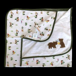 Gymboree Baby Blanket Bears Camping Honey Bees Skunk Security Lovey Canoe NEW