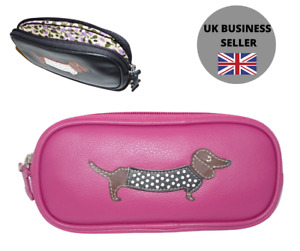 Sausage Dog Ladies Soft Leather Glasses case Mala Leather soft leather 5115 65