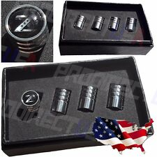 350z 370z Nissan Z Logo Valves Stems Caps Covers Chromed Wheel Tire Emblem *USA