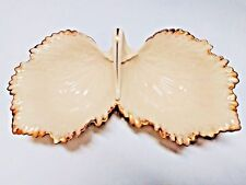 Lenox Porcelain candy and nut dish - vintage - grape leaf design with gold trim