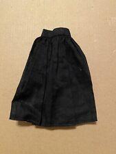 Blythe Doll Black Linen Skirt Pleated