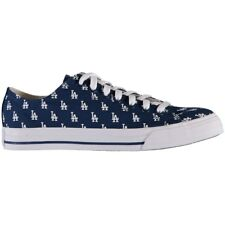 LA Dodgers Blue MLB Row One Team Apparel Men Women Kids Low Top Sneakers Shoes