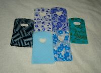 JOB LOT 50 BLUE SMALL PLASTIC GIFT JEWELLERY PARTY BAGS 15x9cm