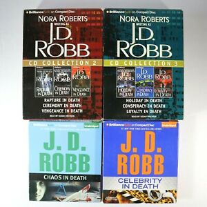 Lot of 8 - J.D. Robb (Nora Roberts) Audio Book In Death Series