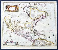 1639 Henricus Hondius Antique 1st Edition Map of North America California Island