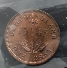 Canada 1943 C Newfoundland Small Cent George VI  MS63 RED